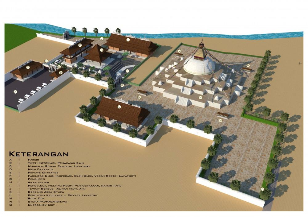 architecture Plan, Stupa Padmasambhava